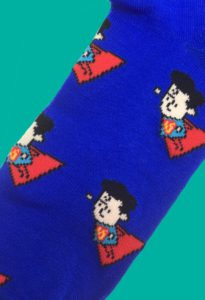 Superman Caricature Socks inspired by DC Comics