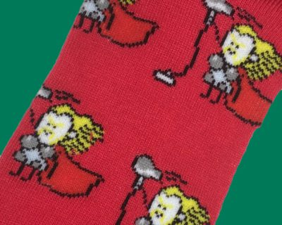 Thor Caricature Socks inspired by Marvel Comics