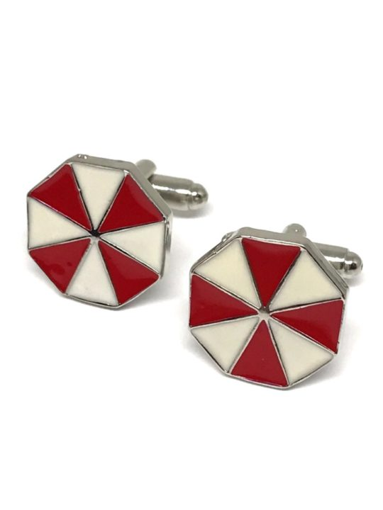 Vamers Store – Merchandise – Geek Chic – Accessories – Cufflinks – Umbrella Corporation Cufflinks inspired by Resident Evil – Main 01
