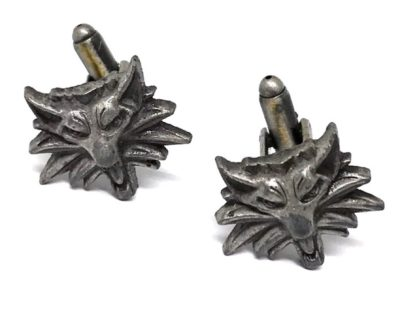Witcher Wolf Cufflinks Inspired by The Witcher Games