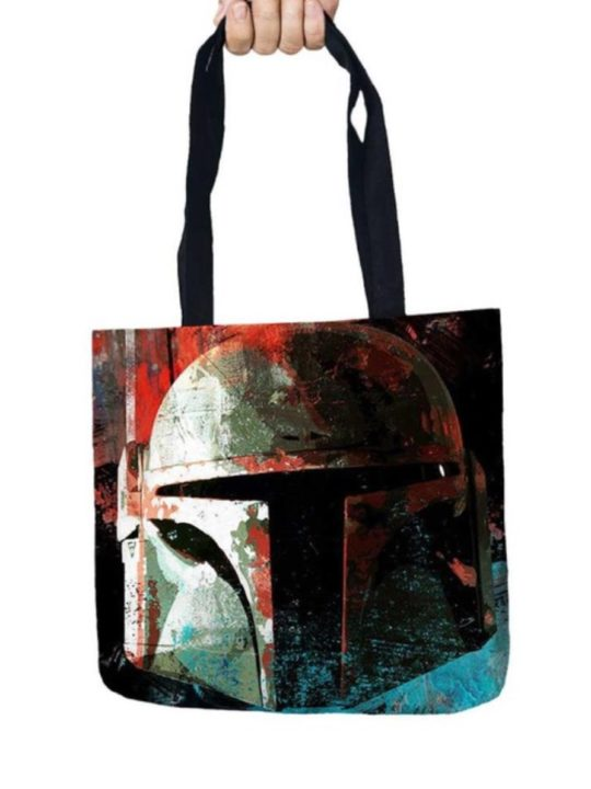 Vamers Store - Accessories - Tote Bags - VS-ACC-TB-SWBFT - Star Wars Tote Bag with Boba Fett Design - 01