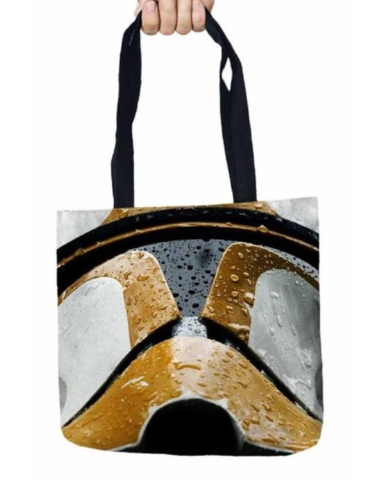Vamers Store – Accessories – Tote Bags – VS-ACC-TB-SWCTH – Star Wars Tote Bag with Clone Trooper Helmet Design – 01
