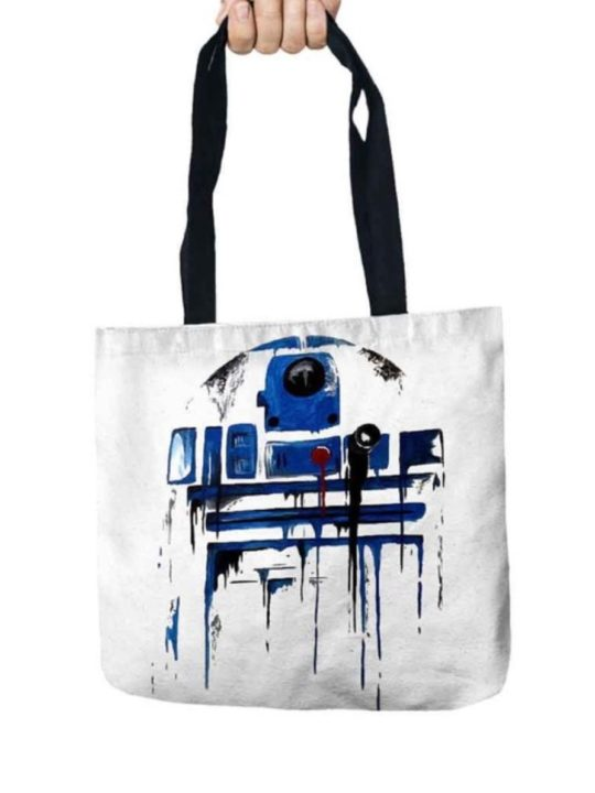 Vamers Store – Accessories – Tote Bags – VS-ACC-TB-SWR2D2 – Star Wars Tote Bag with R2D2 Design – 01