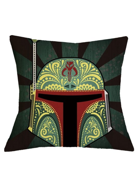 Vamers Store - House and Leisure - VS-HAH-SWTC-BFO - Star Wars Cushion Cover - Bounty Hunter Sigil Boba Fett 01
