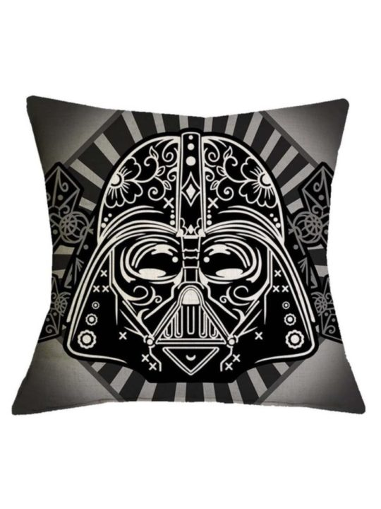 Vamers Store - House and Leisure - VS-HAH-SWTC-DVCB - Star Wars Cushion Cover - Dia De Los Muertos Darth Vader Pillowcase (Classic) - 01