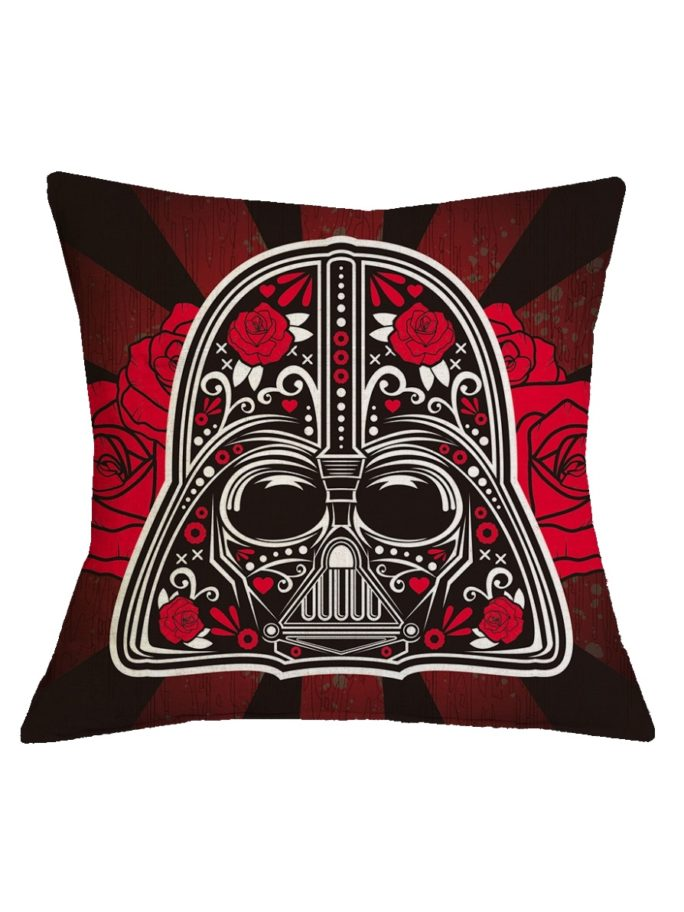 Vamers Store – House and Leisure – VS-HAH-SWTC-DVR – Star Wars Cushion Cover – Darth Vader Red Roses 01