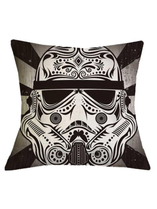 Vamers Store – House and Leisure – VS-HAH-SWTC-STO – Star Wars Cushion Cover – Dia de los Muertos styled Original Stormtrooper Pillowcase – 01