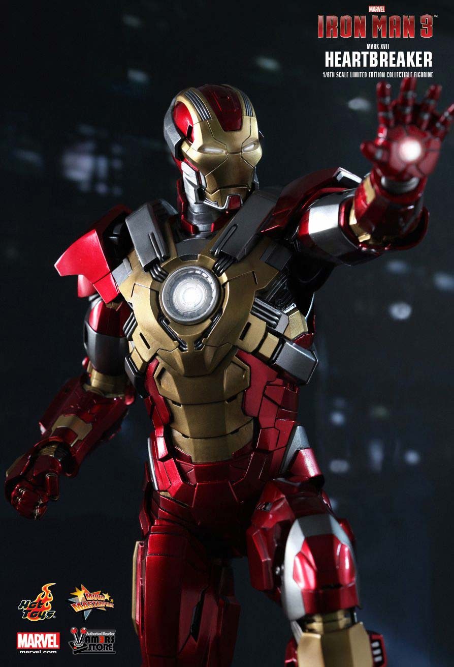 hot toys iron man mark xvii heartbreaker collectible figure. Black Bedroom Furniture Sets. Home Design Ideas