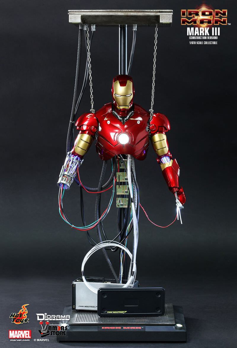 Iron Man 3 Toys ~ Hot toys iron man mark iii construction version vamers