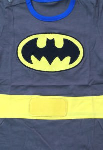 Batman Suit with Cape Baby Grow