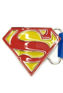 Superman Classic Logo Belt Buckle Inspired by DC Comics