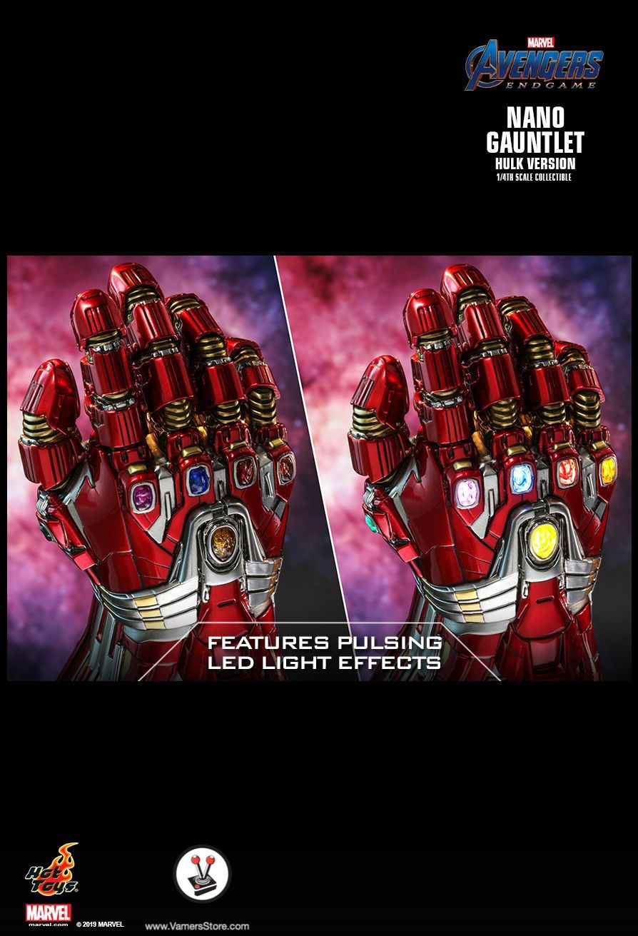 ACS009 Endgame NANO GAUNTLET Hot Toys Avengers Infinity War Hulk Version
